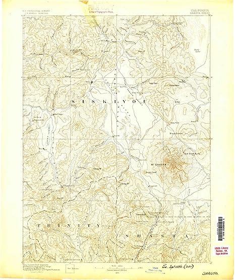Amazon Com Yellowmaps Shasta Ca Topo Map 1 250000 Scale 1 X 1