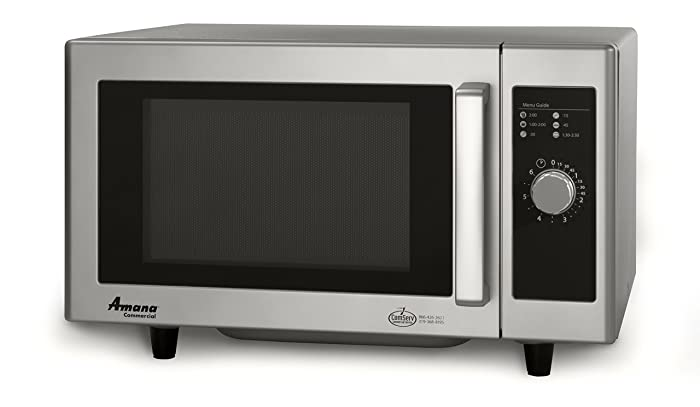 Amana RMS10DS Light-Duty Commercial Microwave Oven with Dial Timer, Stainless Steel, 120-Volts, 1000-Watts