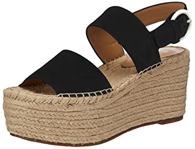 85dce548a15 Marc Fisher LTD Women s Renni Espadrille Platform Wedge Black Multi Suede  9.5 ...