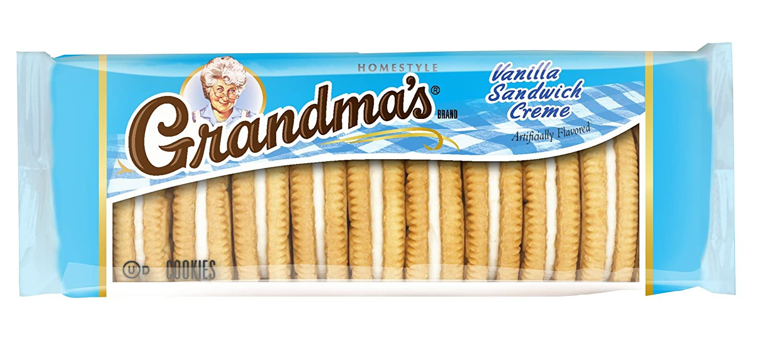 Grandma's Sandwich Creme Cookies, Vanilla, 3.03 Ounce (Pack of 6)