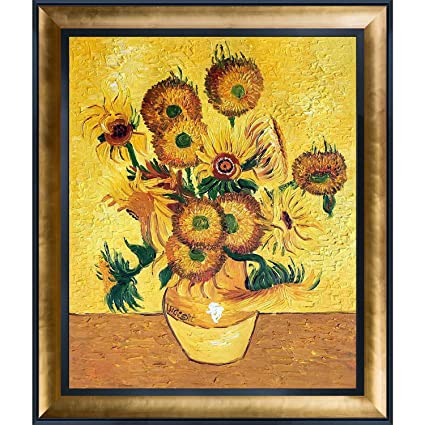 Amazon Overstockart Vase With Fifteen Sunflowers Artwork By