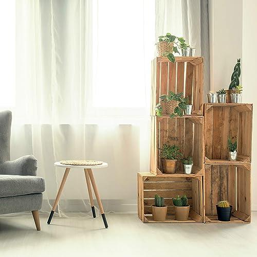 Amazon Com 5pcs Boho Home Decoration Handmade Wood Display Wooden