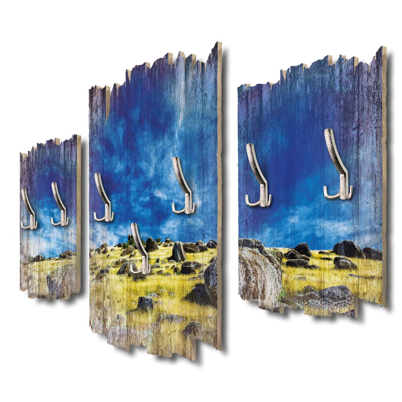 Kreative Feder Hauraki Gulf Neuseeland Designer Wandgarderobe Flurgarderobe Wandpaneele 95 x 60 cm aus MDF-Holz DTGH011