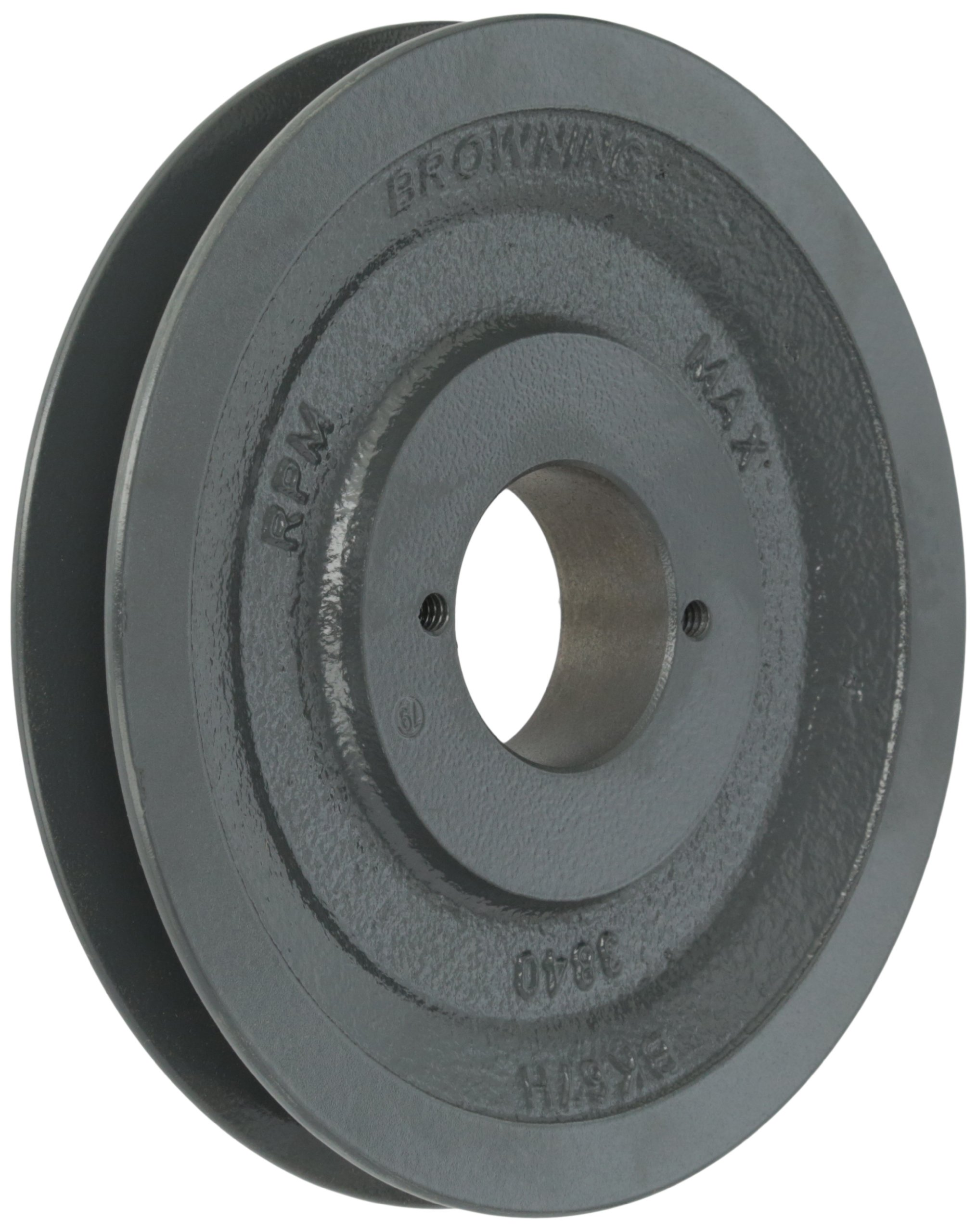 Browning BK67H Bushed Classical Gripbelt Sheave, 4L or A, 5L or B Belt, 1 Groove, Uses H Bushing