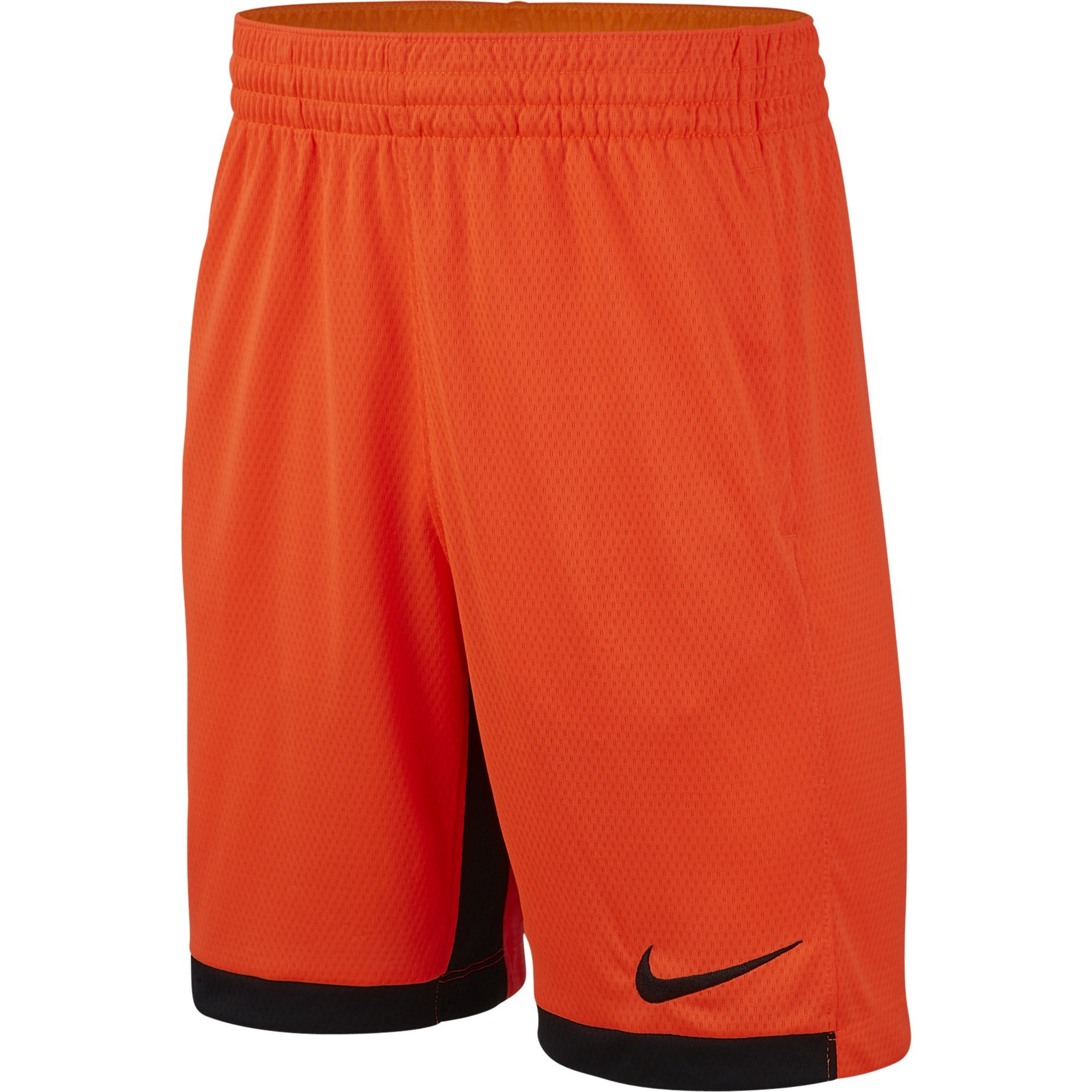 NIKE Boys' Dry Trophy Athletic Shorts, Hyper Crimson/Black/Black, X-Small