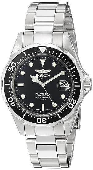 4fe17a81fcab Invicta 8932 Pro Diver Reloj Unisex acero inoxidable Cuarzo Esfera negro   Invicta  Amazon.es  Relojes