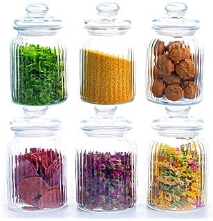 Star Line 6 Grosse Vorratsdosen Set Glas Bonbonglas 1 5 L I