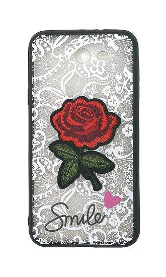 new product f529b 46f61 Amazon.com: Case for Samsung SM-J727AZ Galaxy Halo Case Cover White ...