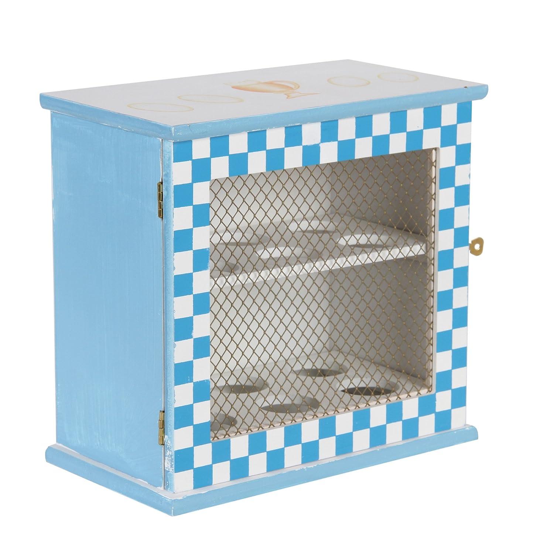 BE LEAF'S Armadio in legno di uova, blu, detiene 12 uova, 2 scaffali con 6 slot ciascuno, contenitore per il cibo BE LEAF' S