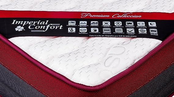 Imperial Confort Premium Helsinki - Colchón viscografeno, grosor 25 cm, 190 x 135 cm: Amazon.es: Hogar