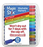 Magic Stix 12pk - Washable markers that won't dry out!