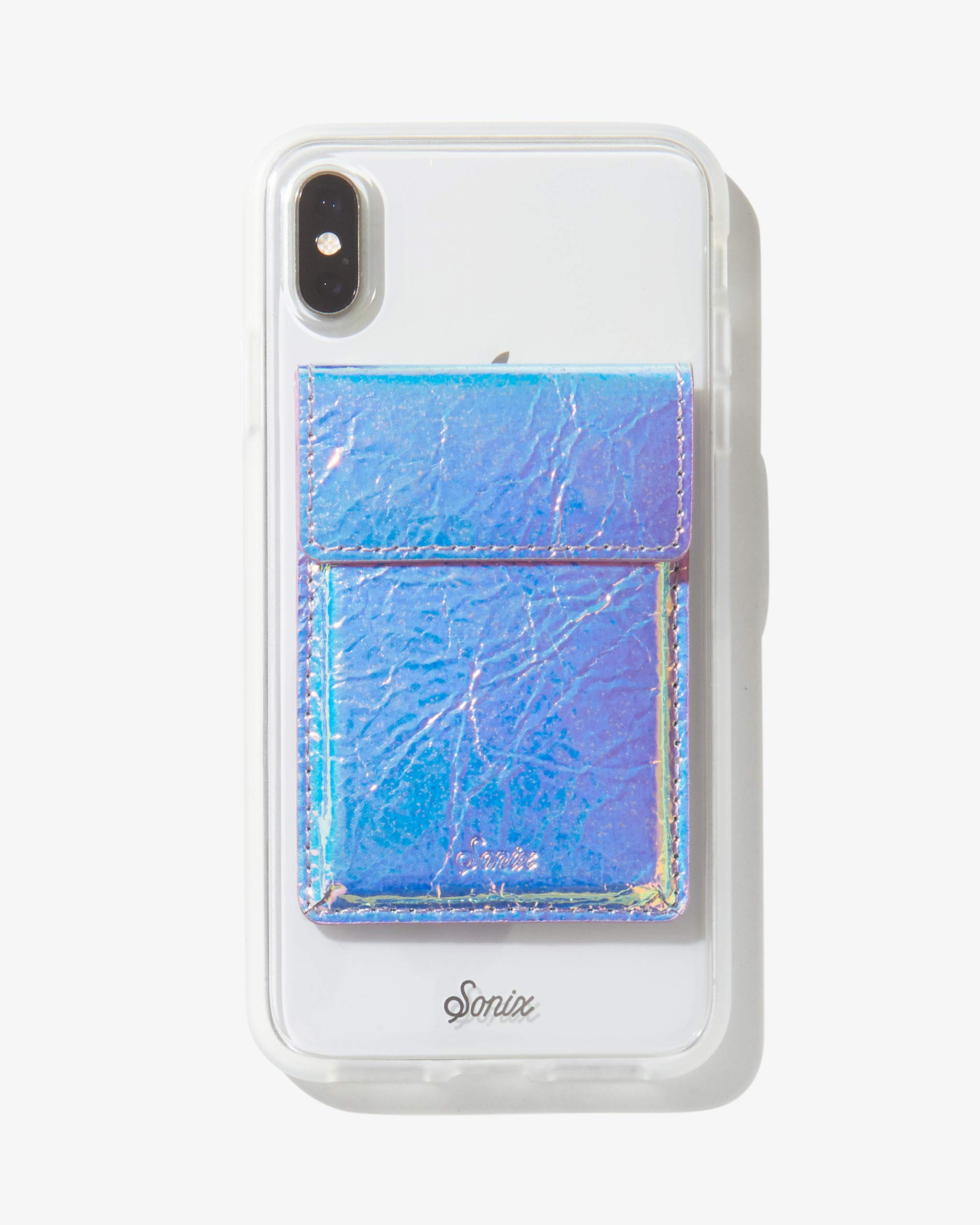 Sonix Card Holder Wallet Adhesive Phone Pocket Sticker (Holographic Leather) by Sonix