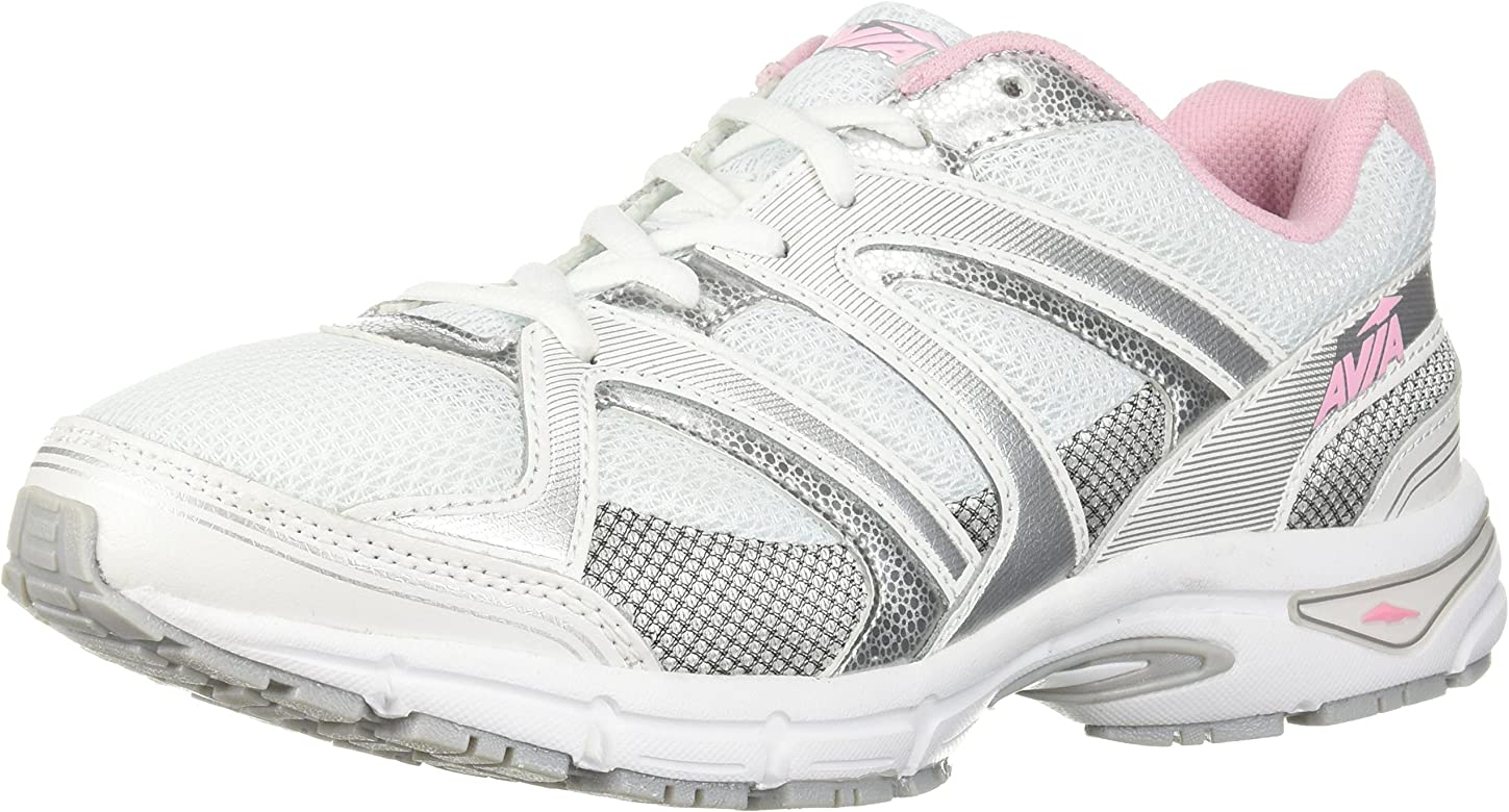 Avia - Avi-execute-ii Para mujer , Rosado (White/Chrome Silver/Tickle Pink), 11 W US: Amazon.es: Zapatos y complementos