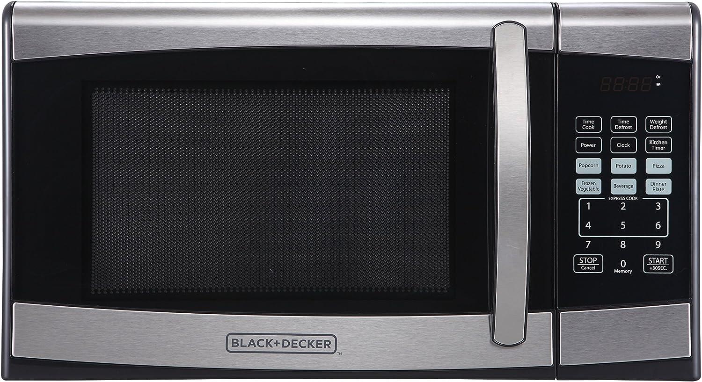 Amazon.com: BLACK+DECKER Microondas de acero inoxidable con ...