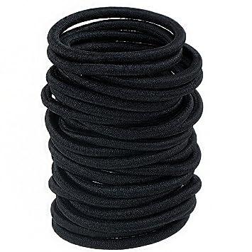 10x Haargummis schwarz  elastisch Haarzopf  Pferdeschwanz