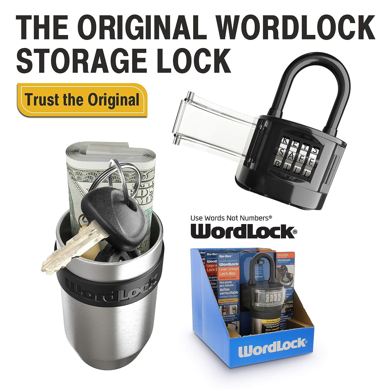 Wordlock Ks 052 Bk Stor More Key Storage Box With 4 Dial Black Tools Home Improvement Hardware