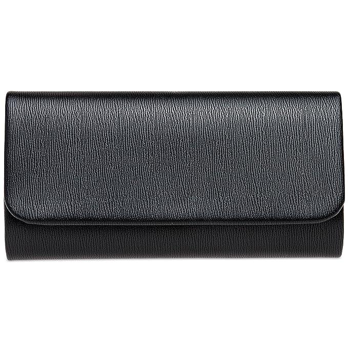 CASPAR TA371 Bolso de Mano Fiesta Elegante para Mujer Estilo Largo, Color:negro;Tamaño: Talla Única