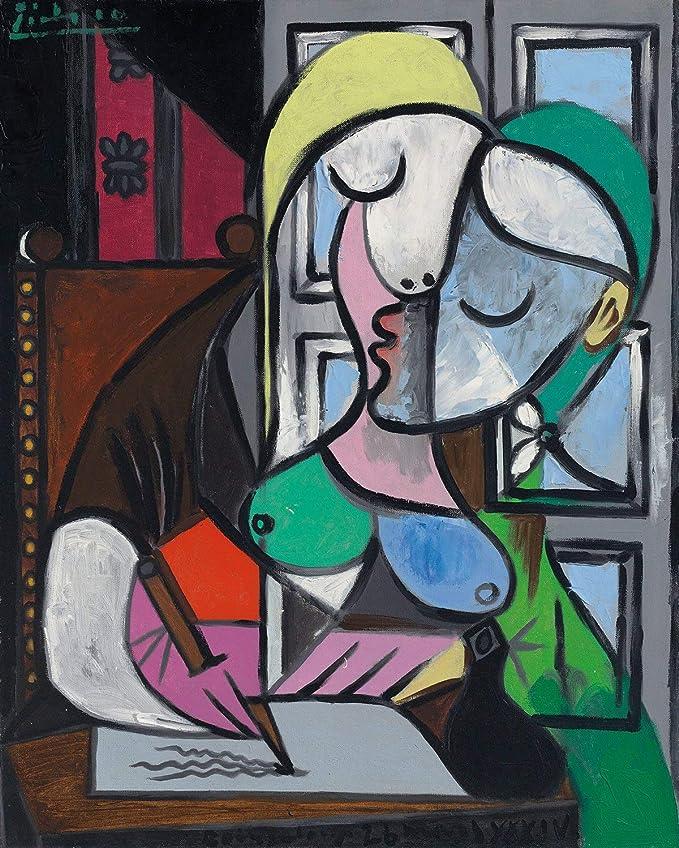 Femme Ecrivant  Pablo Picasso Art Prints On Framed Canvas Wall Home Decoration