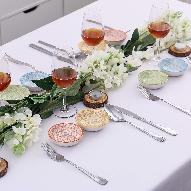 vancasso Natsuki,Cuenco de Sopa de Porcelana de 4 Piezas Plato de ensalda,Plato de Pasta 21 cm 700ML
