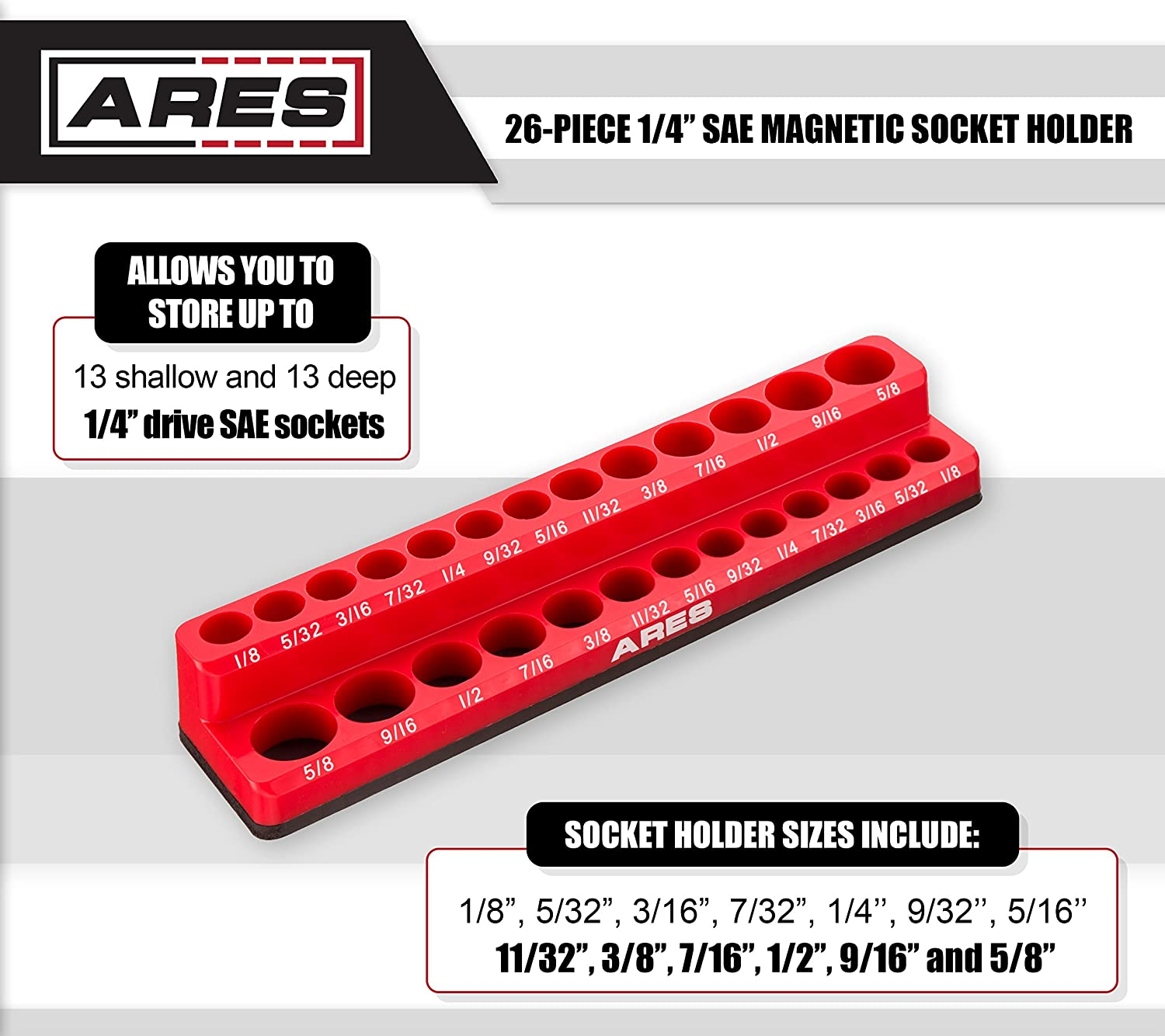 Amazon Ares 70232 26 Piece 14 Inch Sae Magnetic Socket