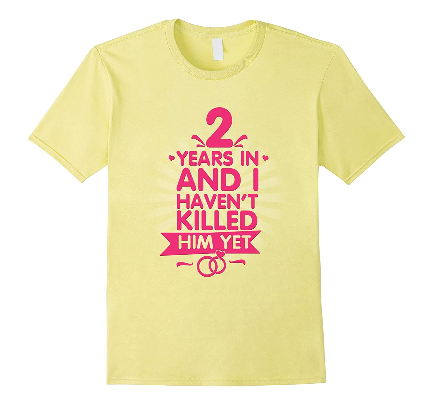 2 Years Of Marriage T Shirt 2nd Anniversary Gift For Wife Th Teehelen