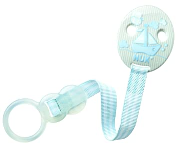 NUK NK10750454 - Sujeta-chupetes duo, color azul claro ...