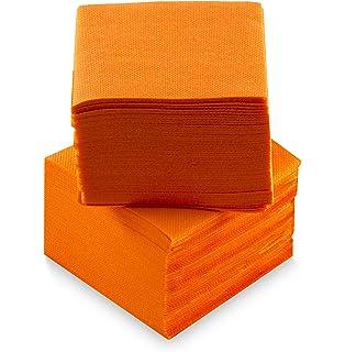 100/Napkins Saten ser22107611/Coktail 2/Ply Orange 1//4/Fold Napkin 20/x 20 punta-punta
