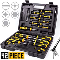 ,Professional Cushion Grip Screwdriver Set Amartisan 15-Piece Magnetic Screwdrivers Set 5 Phillips 5 Slotted Tips and 5 Insulated Screwdriver Set 1000V