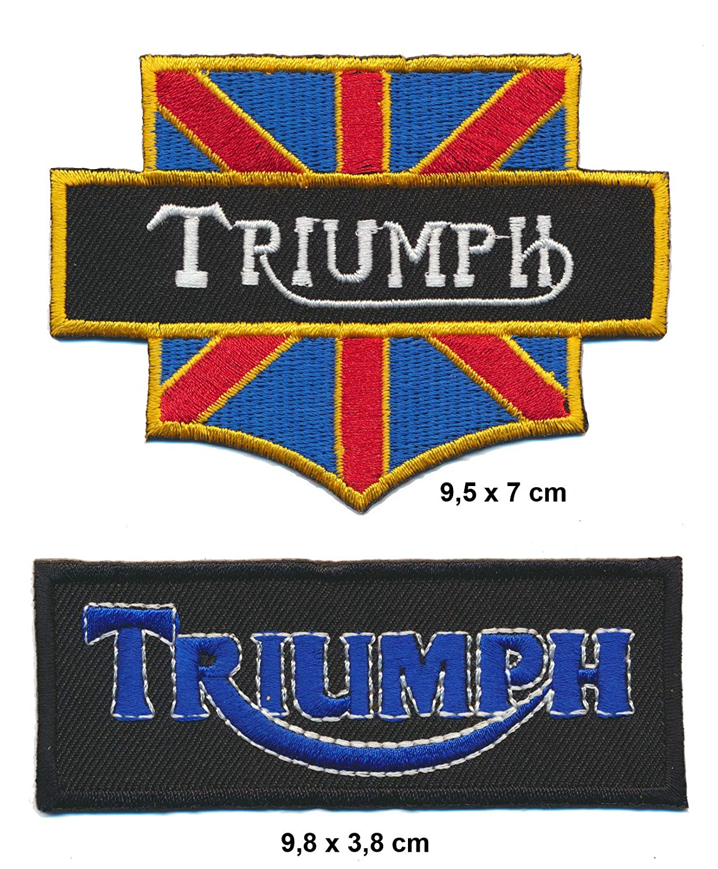 UK Motorcycles Lot de 2 /écussons thermocollants pour Moto Bonneville Bobber Thruxton Angleterre