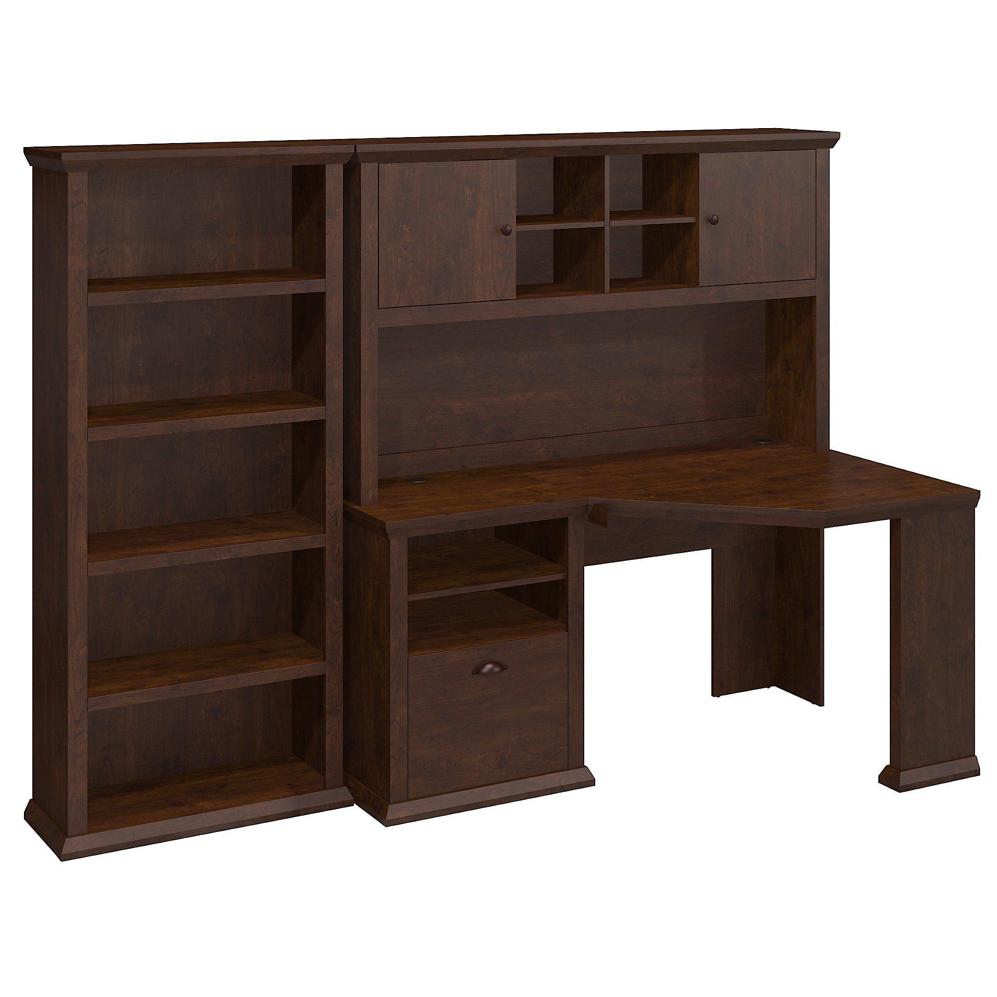 Yorktown Corner Desk with Hutch and Bookcase