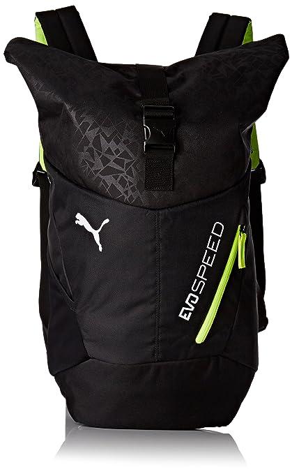 Puma Evospeed Backpack Black Casual Backpack (7430802)  Amazon.in  Bags e7aa4fc6bcb3f