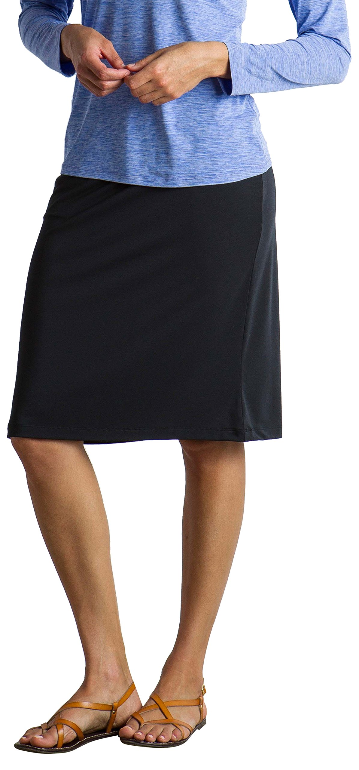 ExOfficio Women's Wanderlux Short Skirt, Black, Large