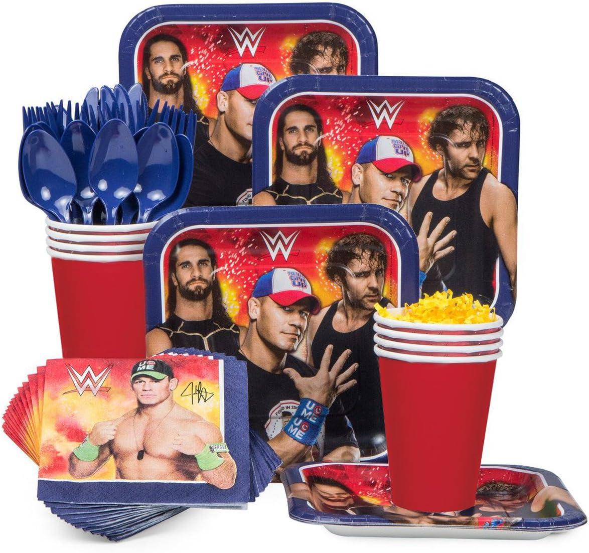 WWE Happy BIRTHDAY birthday party supplies TREAT PAPER CUPS  wrestling Cena Rock
