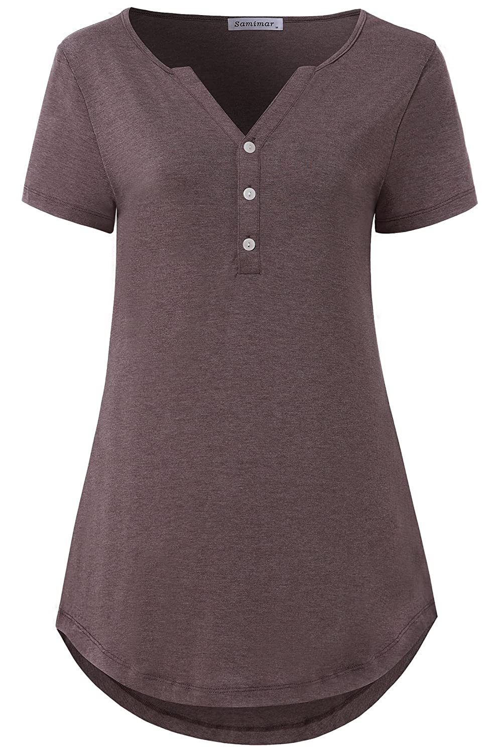 0f51d03c1 Features: Short sleeve,classic v-neck,high low curved hem,trendy and  elegant style to make you look more elegant.