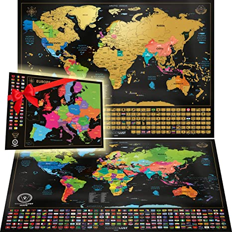 Scratch off Europe Map Poster Large Detailed Europe Wall Map Scratch off