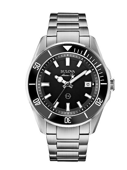 Bulova Marine Star 98B203 - Reloj de Pulsera de Diseño para Hombre - Resistente al Agua