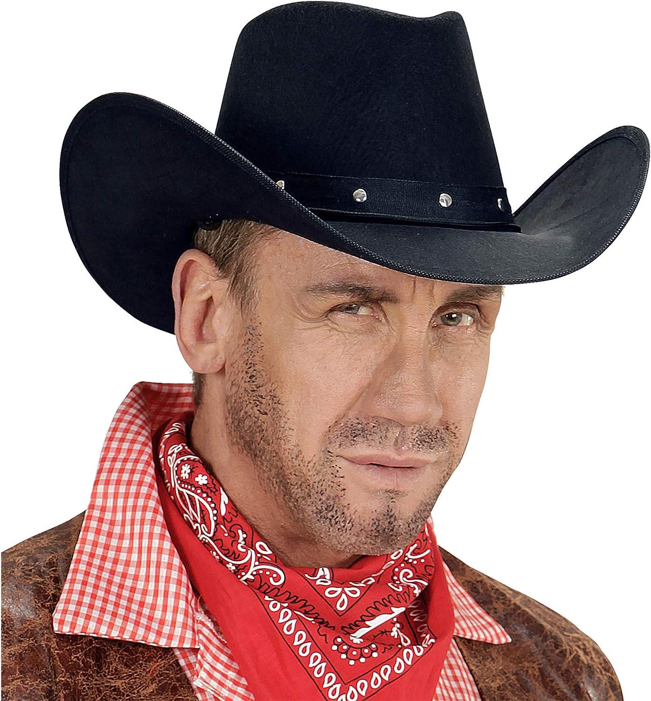 /Black WIDMANN 01101/Cowboy Hat with Rivets/