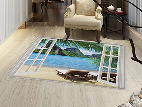 Amazoncom Smallbeefly Beach Door Mats For Inside Palm Trees In