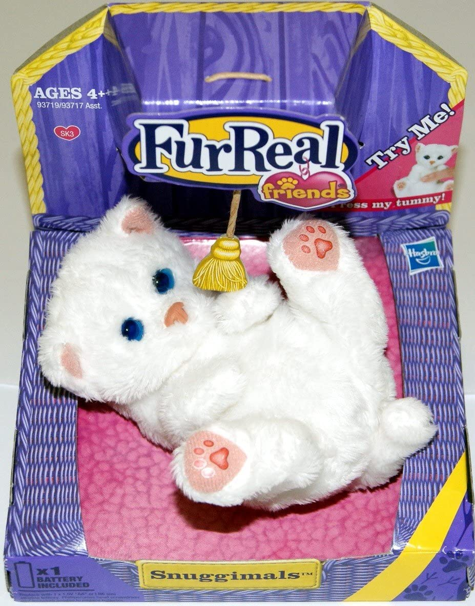 Amazon Com Furreal Snuggimals Kitten White Toys Games