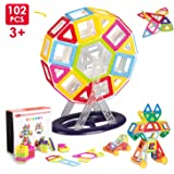 Building Blocks 102 PCS Miric Learning colour Toys Magnetic Set Mini Toy kit Construction Stacking Christmas Gift for Kids Over 3 Years Old