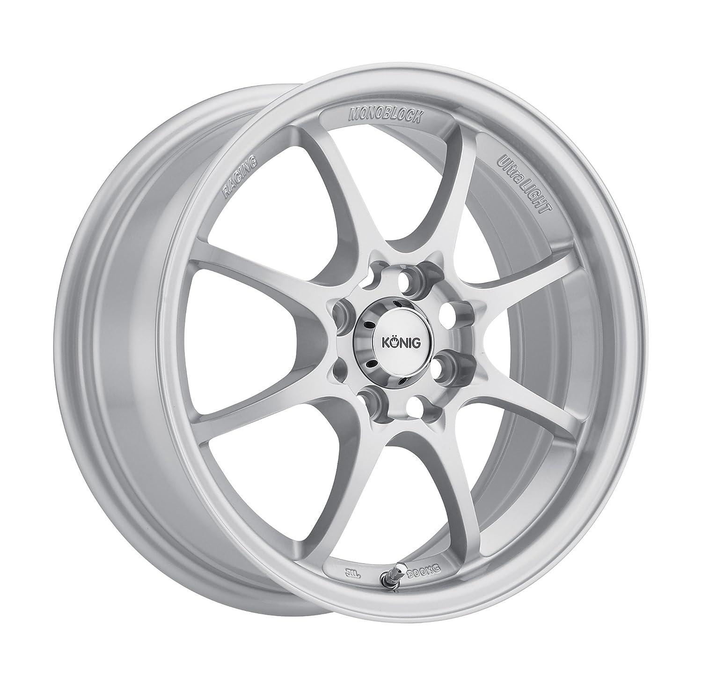 15x6.5//4x100mm Konig Helium Silver Wheel
