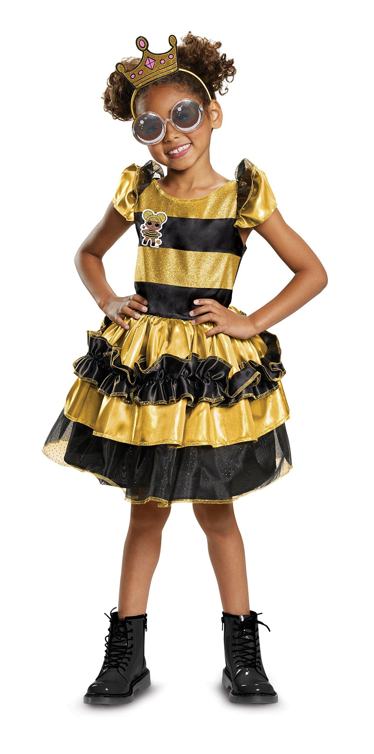 Disguise Queen Bee Deluxe Child Costume, Yellow, Medium/(7-8)