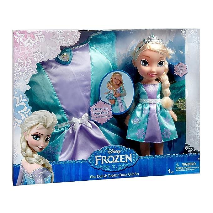 Amazon.com: Disney – Frozen Elsa Doll & Dress-up Set: Toys ...