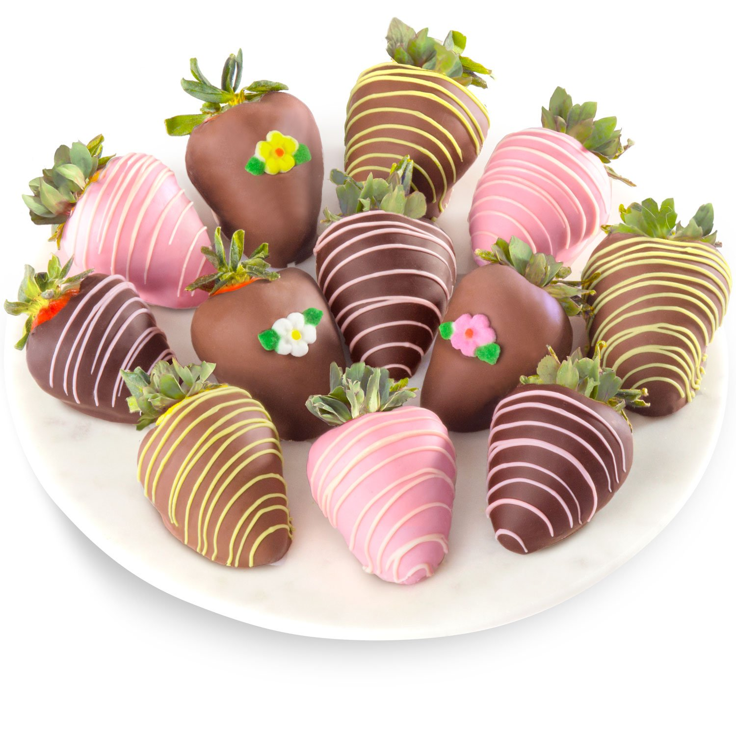 Golden State Fruit 12 Piece Sweet Summer Chocolate Covered Strawberries by Golden State Fruit (Image #1)