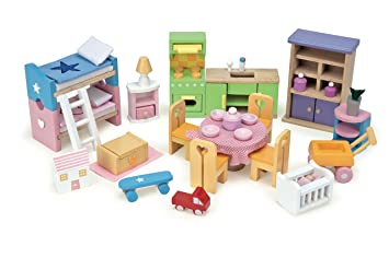 Le Toy Van Starter Furniture Set   Dolls House Wooden Accessory Set (styles  And Colours