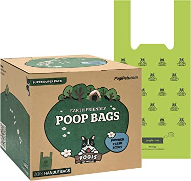 Biodegradable Large 500 Bags for Pantries Pogi/'s Poop Bags Scented Single Large Roll Leak-Proof Dog Poo Bags