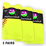 MadSportsStuff Softball Stitch Over the Calf Socks (available in multiple colors)