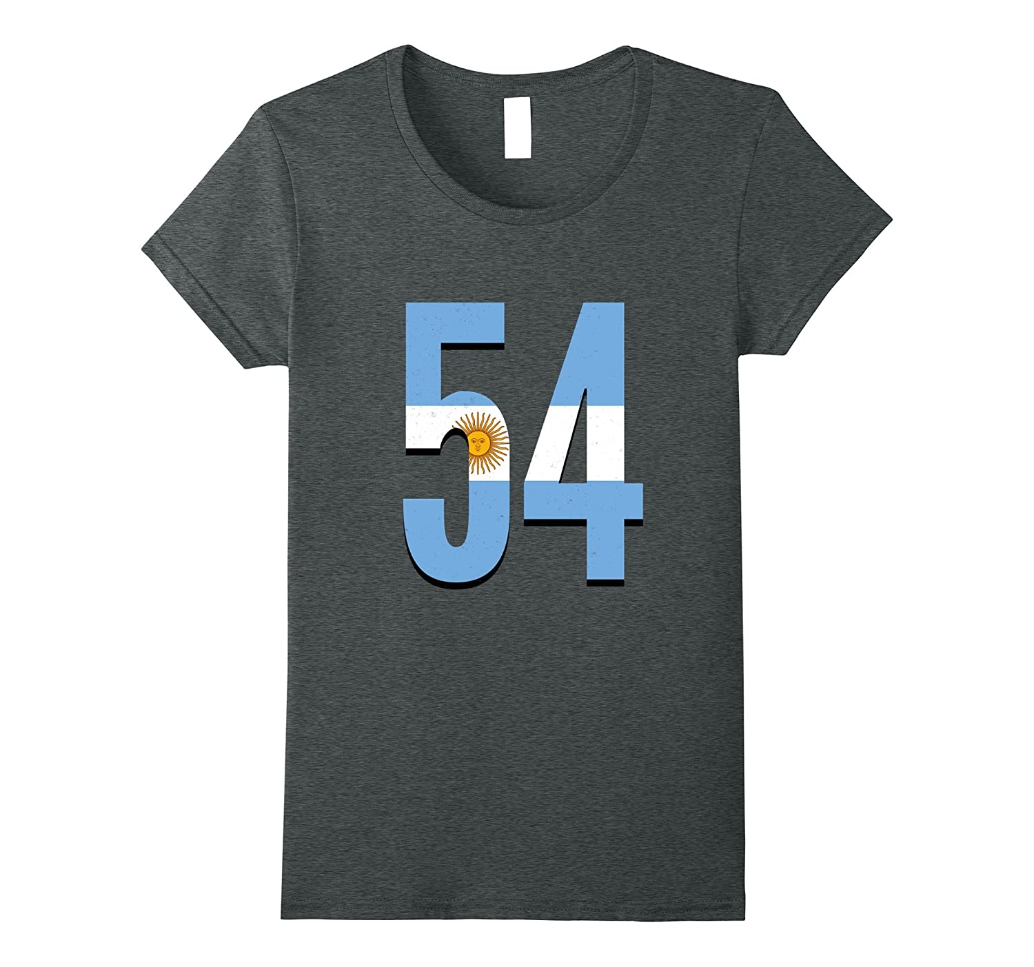 54 Argentina Argentinian Country Area Code Pride Flag T-Shir