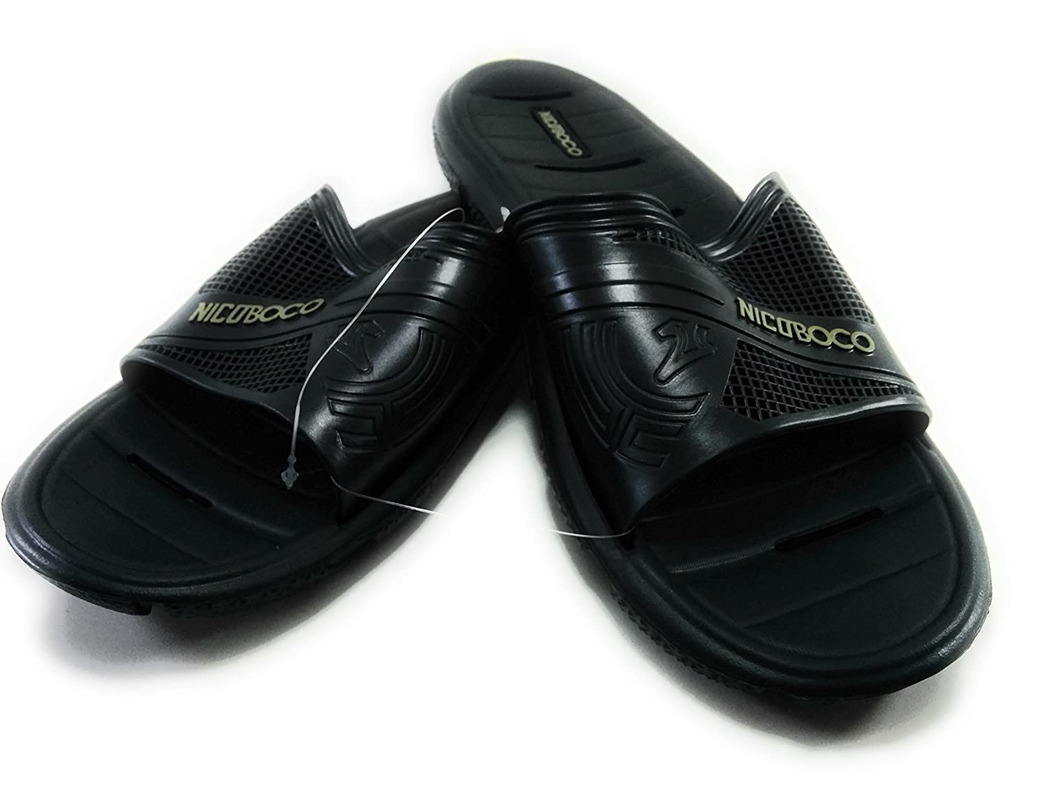 98478fe14b38 Nicoboco Men s Thong Sandals Black  Amazon.co.uk  Shoes   Bags