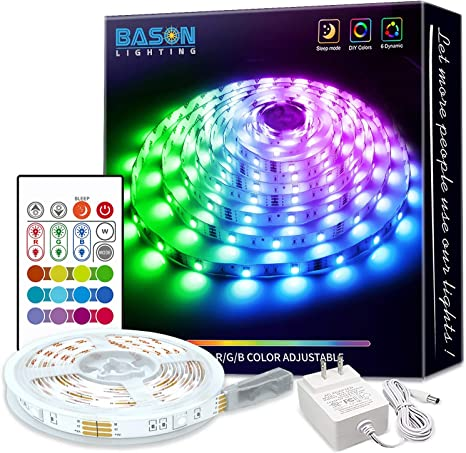 65.6FT Flexible Strip Light RGB LED SMD Fairy Lights Room Party Bar with g 77